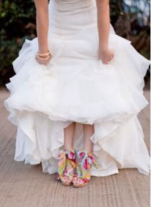 Bride Shoes Vibrant Coloured Wedding