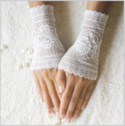Wedding Gloves White Fingerless
