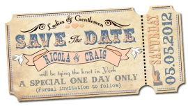 Wedding Invite Save The Date Festival Theme