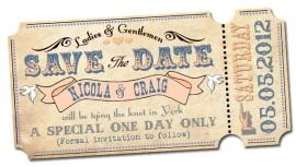 Wedding Invite Save The Date Festival Theme