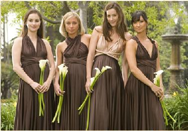 bridesmaid inspiration mis matching unmatching brown