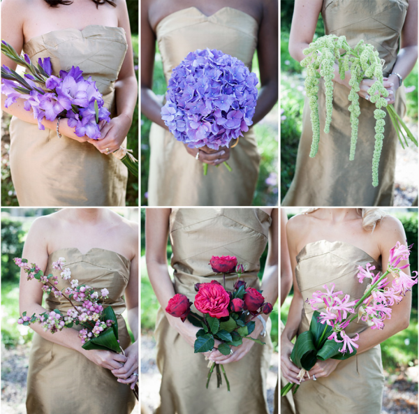 Mismatched Bridesmaids Ideas Non Matching Flowers