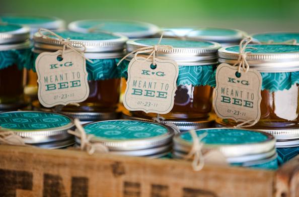 Wedding Favours Mason Jars Honey