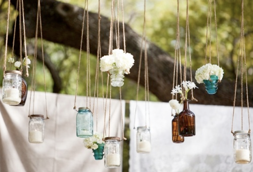 Wedding Decor Mason Jars Outdoor