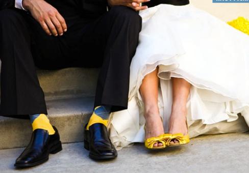 Bride Shoes Bright Colour