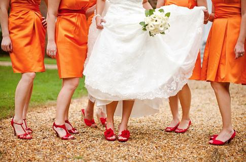 Bridal Shoes Vibrant Colors