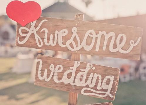 Wedding Signs Rustic Romantic