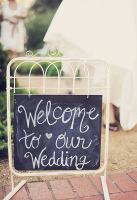Wedding Signs Chalkboard