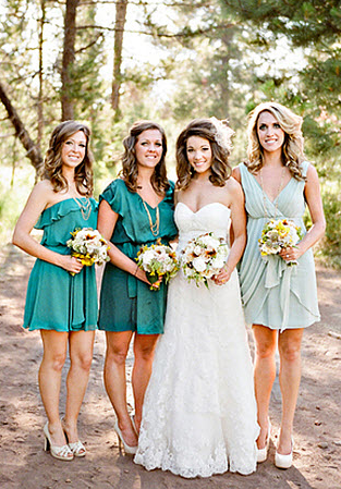 Non Matching Bridesmaid Ideas 2012