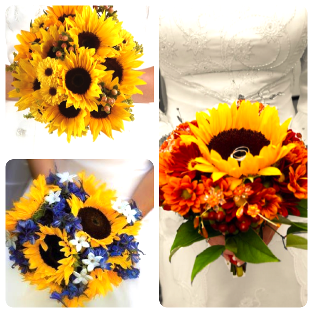 HUNTED Wedding Flowers Sunflowers