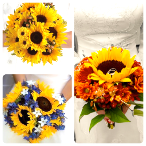 Wedding Ideas Sunflower Bridal Bouquet