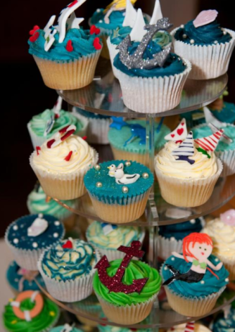 Wedding Cupcake Ideas Nautical Blues Anchors