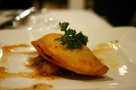 Wedding Eating Empanadas Lat American Inspired