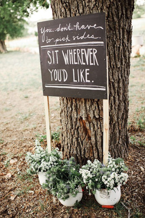 Wedding Seats Chalkboard
