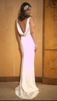 Bridal Gowns Backless Satin White 2012 2013