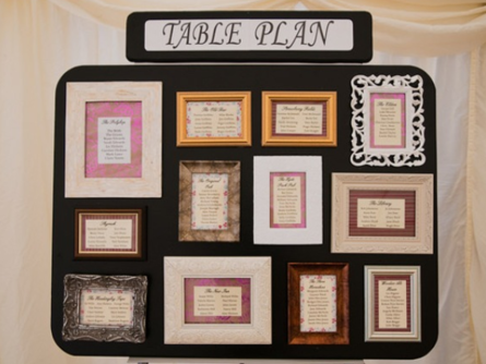 Wedding Table Plans Frames
