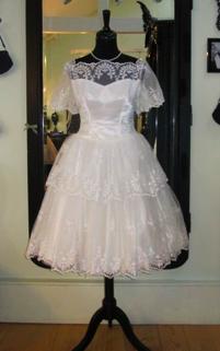 Vintage 1950s Tea Length Bridal Gown 2012 2013