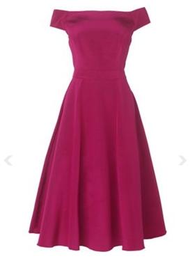 Raspberry Wedding Dress Bridesmaids Vintage