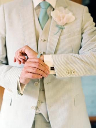 Groom Wear White Suit