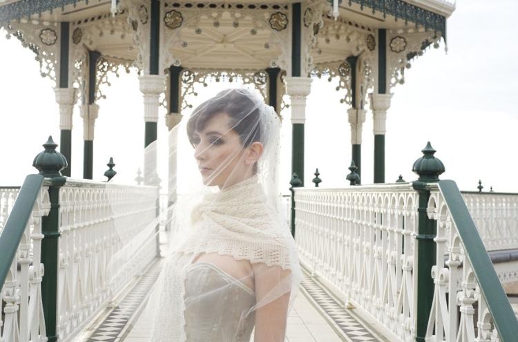 Knitted Shawl Bride Winter Attire