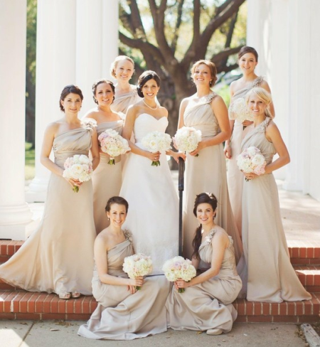 Nude Bridesmaid Dresses 2012 2013