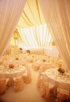 Wedding Inspiration White Themed Decoration Tables