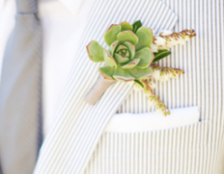 Boutonniere Inspiration Succulents Wedding