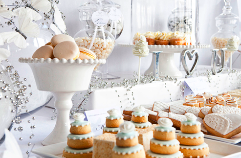 White wedding inspiration cakes table