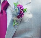 Groomswear Buttonohle Thistle Design