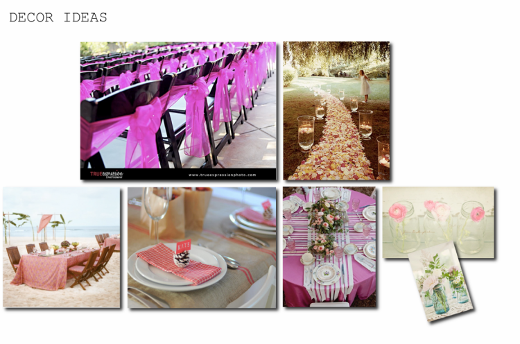 Wedding Decor Tables Details Pinks
