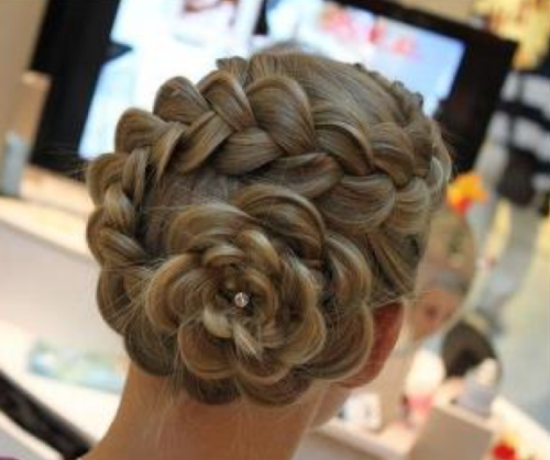 Wedding Hair Buns Plaits Detailed