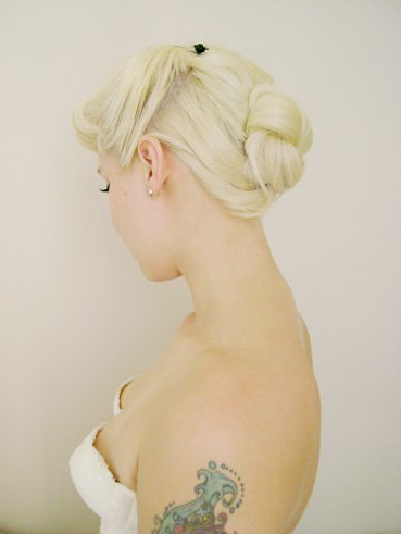 Wedding Hair Burlesque Pinup 40s Bride