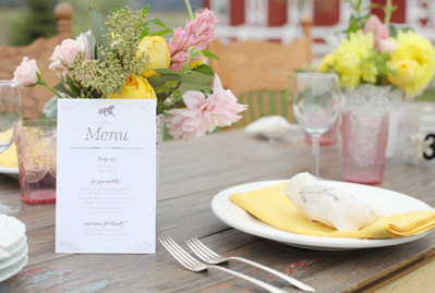 Wedding Table Setting Inspiration Outdoors