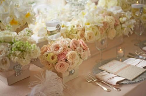 Wedding Table Settings Ideas Elegant Pinks Creams