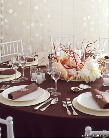 Wedding Table Settings Unusual Browns Reds