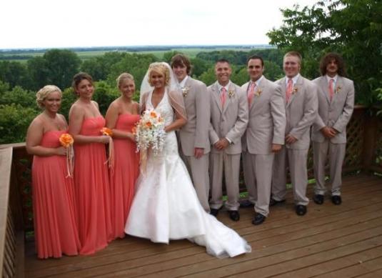 Wedding Coral Grey Bridesmaids