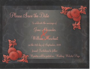 Wedding Stationery Coral Greys