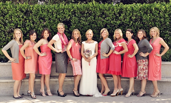 HUNTED : { Wedding Inspiration – Coral and Grey Wedding Palette ...