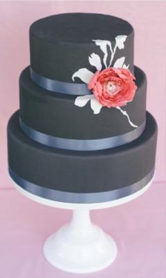 Wedding Cake Ideas Coral & Grey