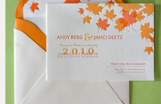 Fall Wedding Invite Ideas