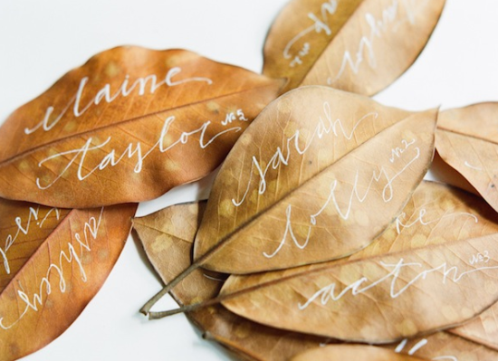 Fall Wedding Escort Cards Name Places